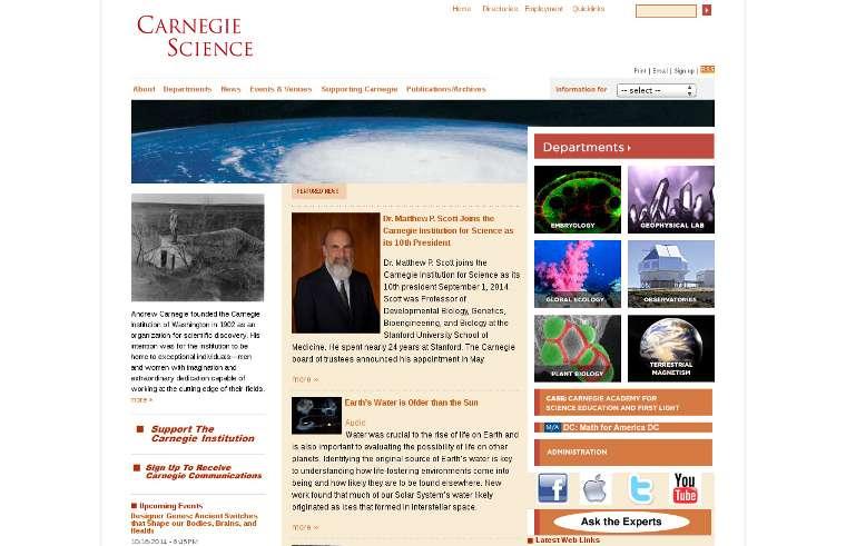 Carnegie Institution for Science_website