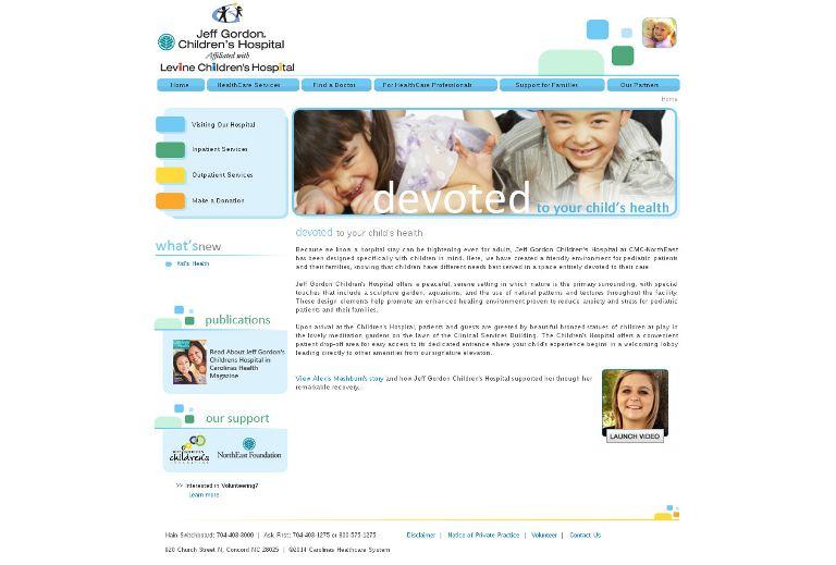 Jeff Gordon Children's Hospital_website