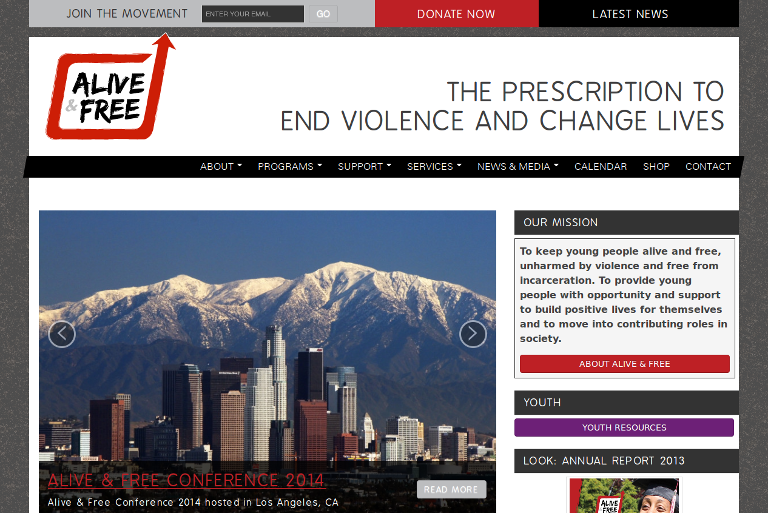 Alive & Free_website
