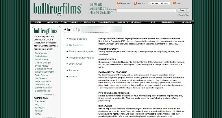 Bullfrog Films_website