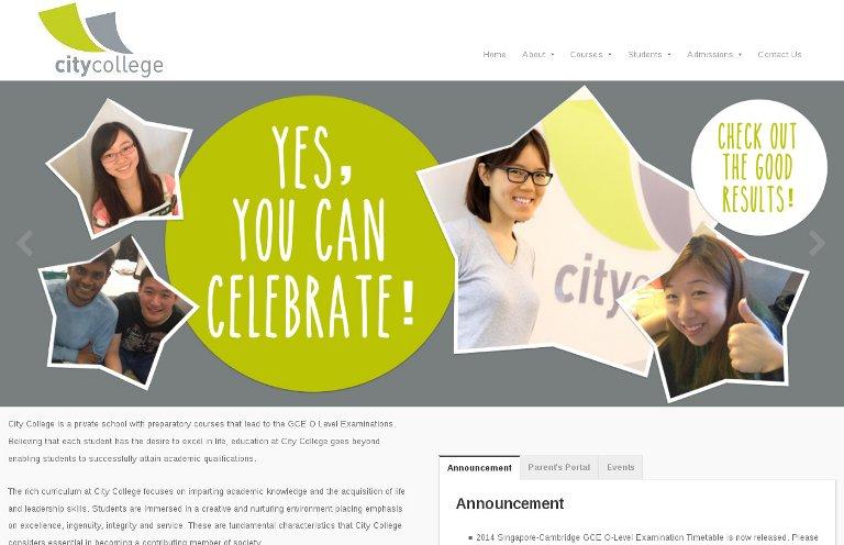 City College - website