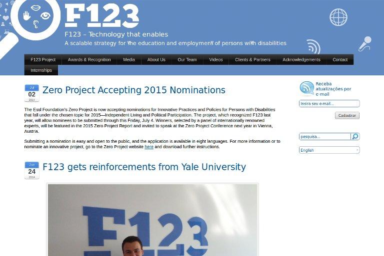 F123 – Website
