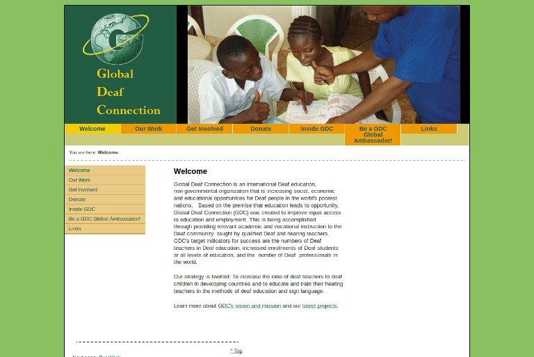 Global Deaf Connection_website