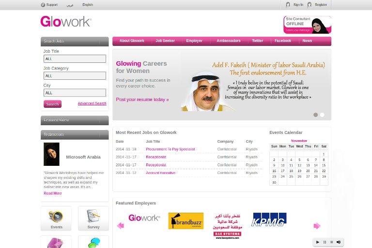 Glowork - Website