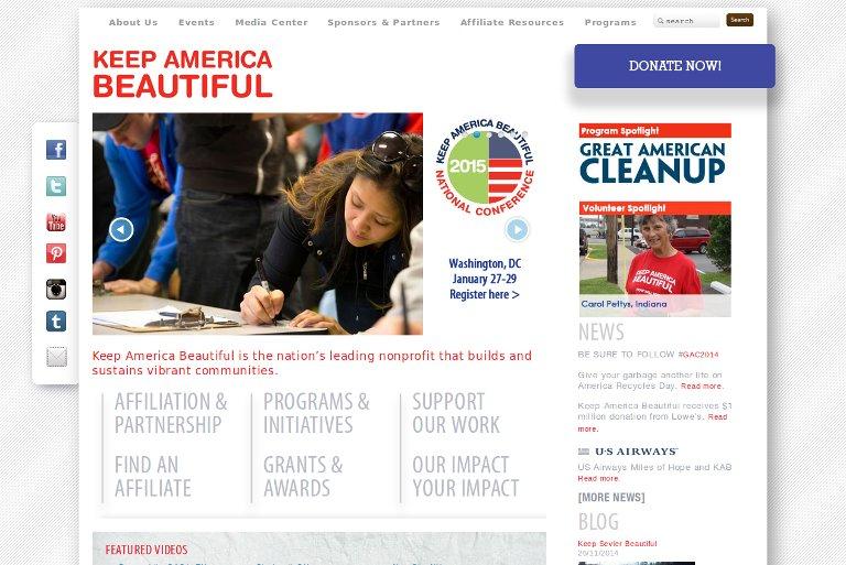 Keep America Beautiful_website