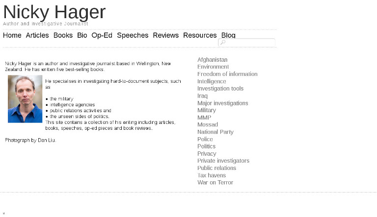 Nicky Hager_website