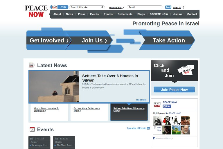 Peace Now_website