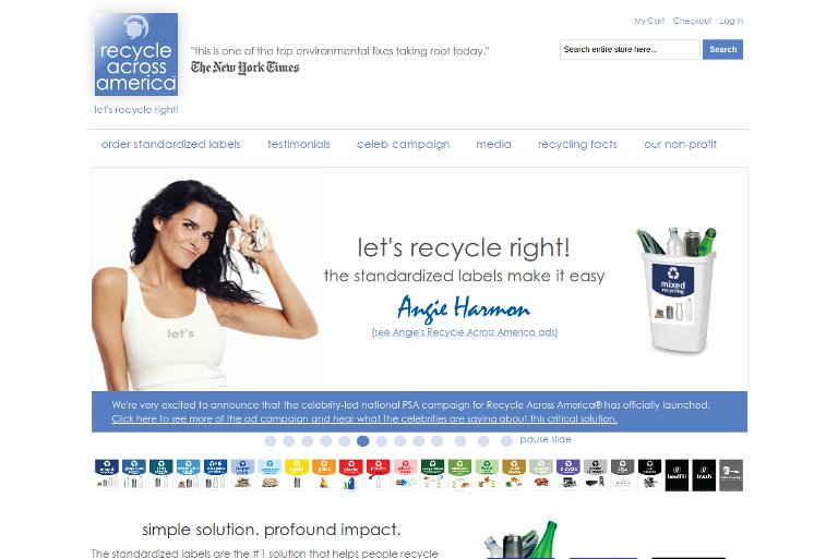 Recycle Across America_website