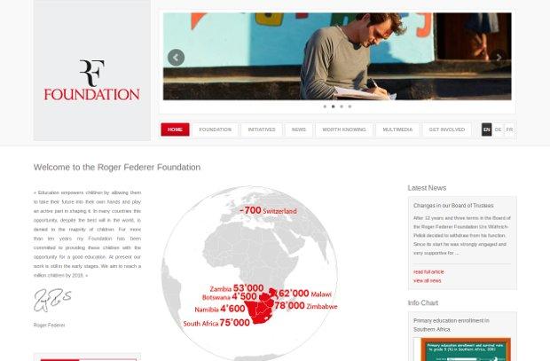 Roger Federer Foundation_homepage
