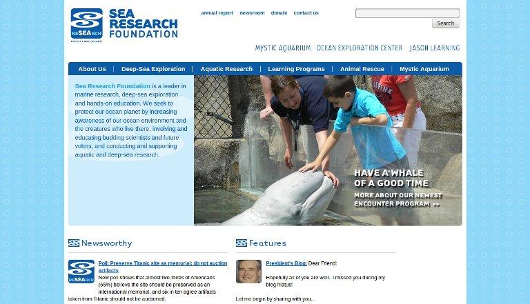 Sea Research Foundation_website