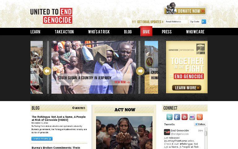 United to End Genocide_website