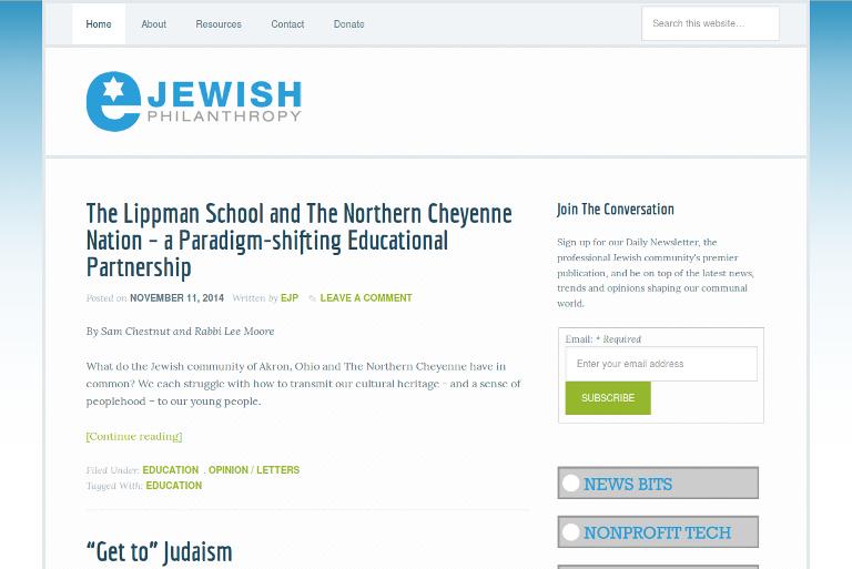 eJewish Philanthropy_website