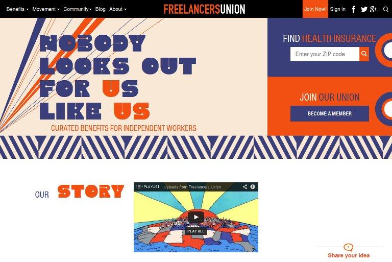 Freelancers Union_website
