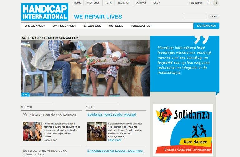 Handicap International_website