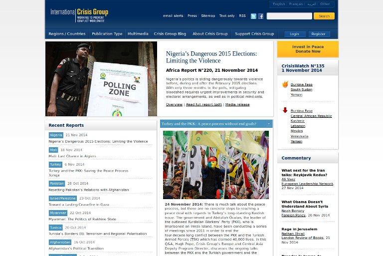 International Crisis Group_website