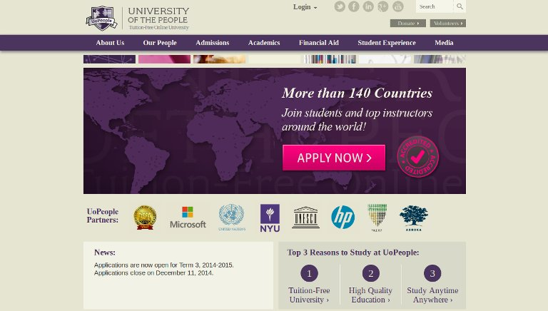 University of the People – website