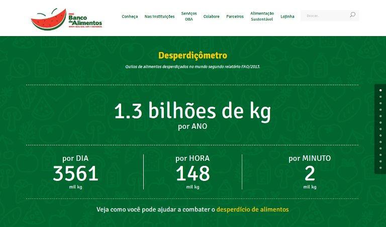 Banco de Alimentos - webpage