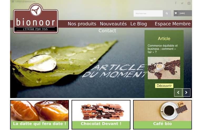 Bionoor - webpage