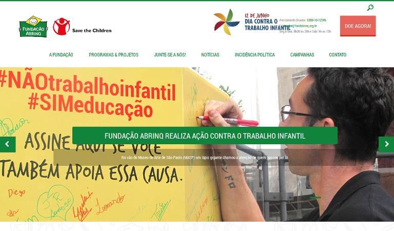 Fundação Abrinq - webpage