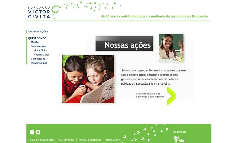 Fundação Victor Civita_webpage