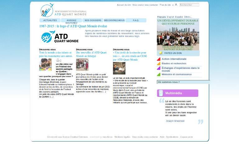Mouvement International ATD_webpage