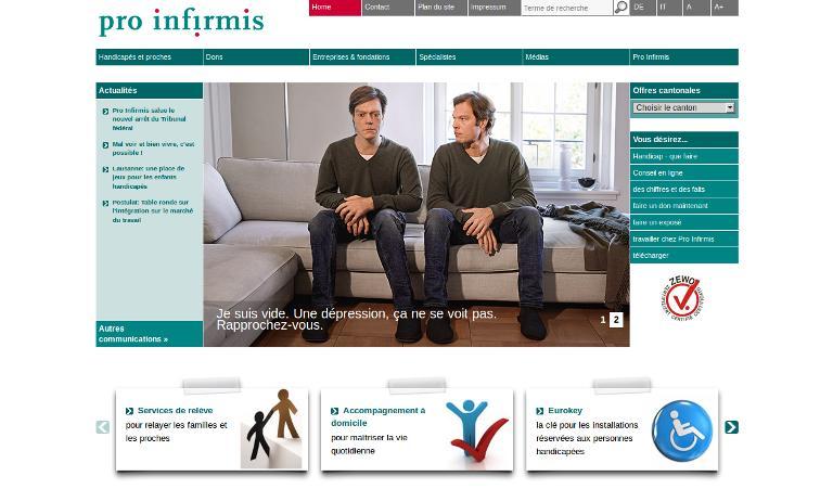Pro Infirmis_Homepage