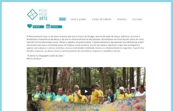 Projeto Movimentarte_webpage