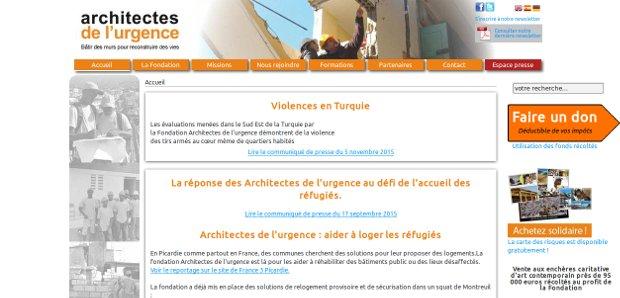 Architectes de l'urgence_website