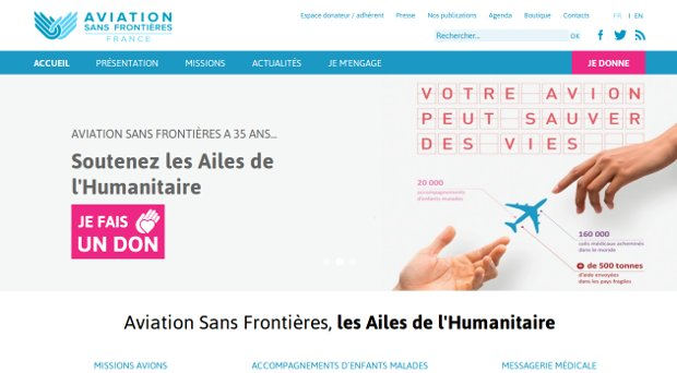 Aviation Sans Frontières_website