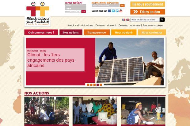 Electriciens sans frontières_website