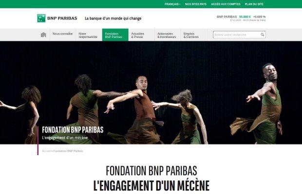 Fondation BNP Paribas_website