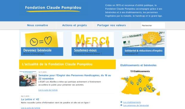 Fondation Claude Pompidou_website