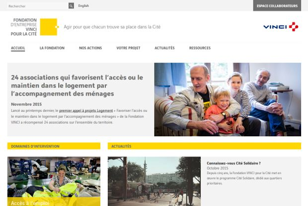 Fondation VINCI_website