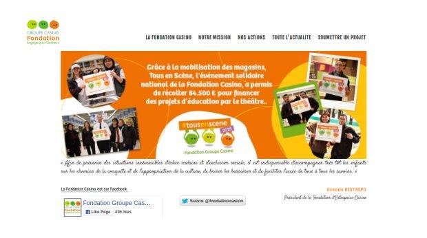Fondation d'Entreprise Casino_website