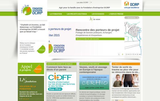 Fondation d'entreprise OCIRP_website