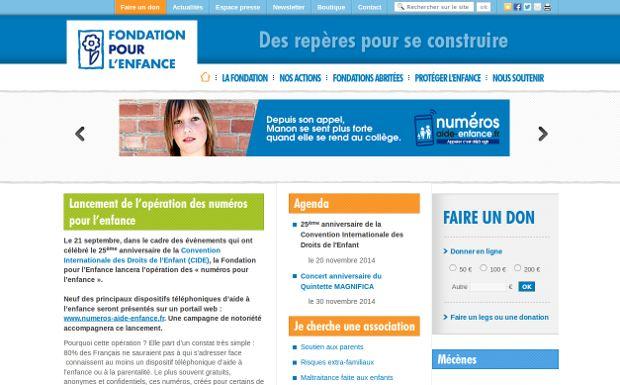 Fondation pour l'Enfance_website