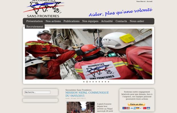 Secouristes Sans Frontières_website