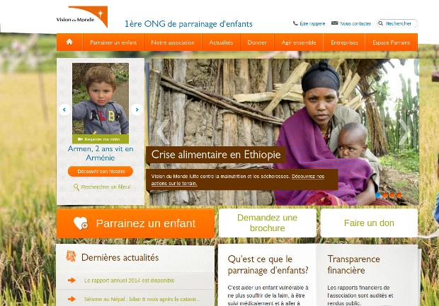 Vision du Monde -website