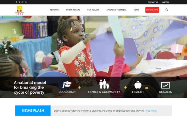 Harlem Children's Zone_homepage