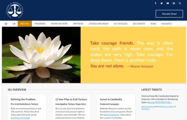International Bridges to Justice_website
