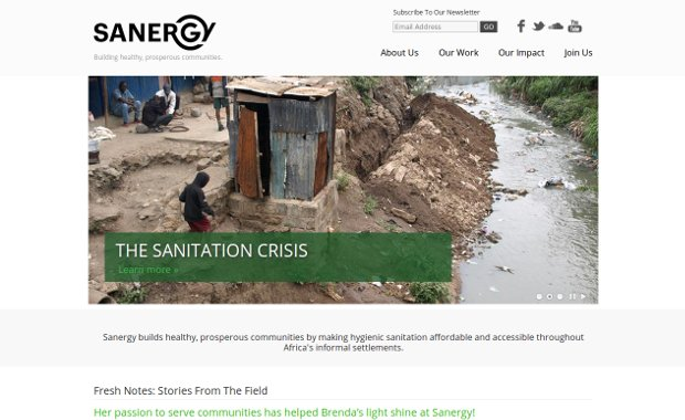 Sanergy_homepage