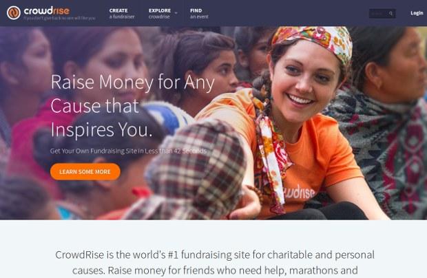 CrowdRise_homepage