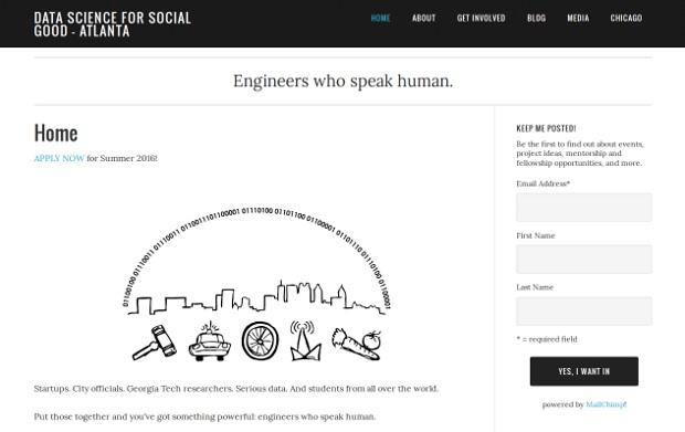 Data Science for Social Good - Atlanta – Engineers who speak human_homepage
