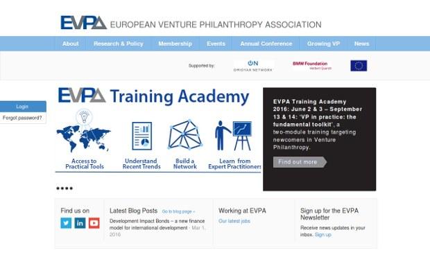 EVPA - European Venture Philanthropy Association_homepage