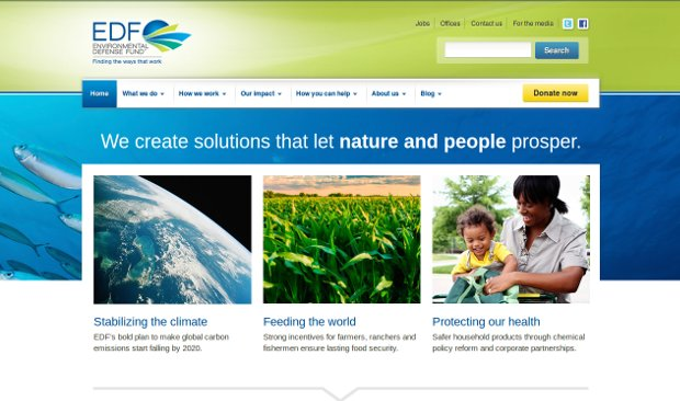 Environmental Defense Fund_homepage