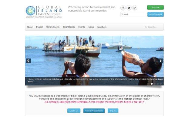 GLISPA: Global Island Partnership_homepage