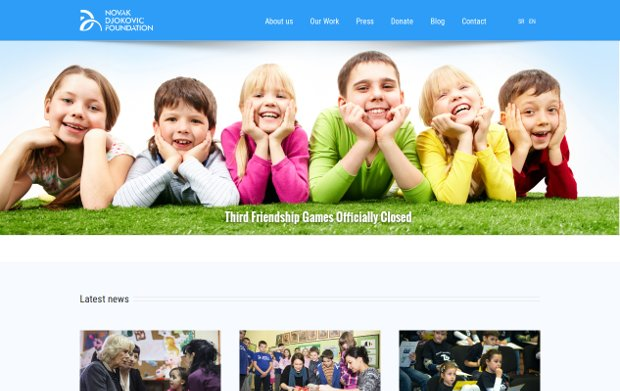 Novak Djokovic Foundation_homepage