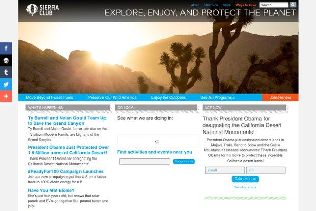 Sierra Club Home Page