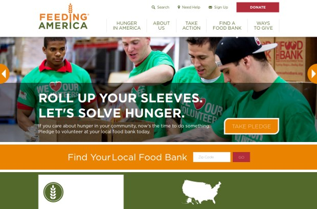 U.S. Hunger Relief Organization   Feeding America_homepage