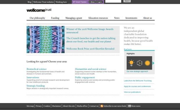 Wellcome Trust_homepage